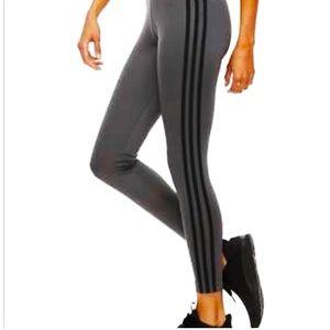 Adidas NWOT dark grey 3 stripe leggings